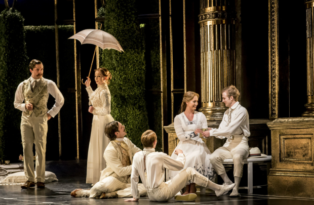 <p>Ashley Shaw (Aurora) and company  in Matthew Bourne&#39&#x3B;s <em>Sleeping Beauty</em>.</p><br />© Johan Persson