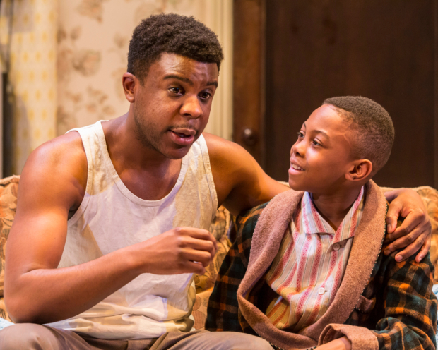 <p>Ashley Zhangazha (Walter) and Solomon Gordon (Travis Younger) in <em>A Raisin in the Sun</em></p><br />© JOHAN PERSSON