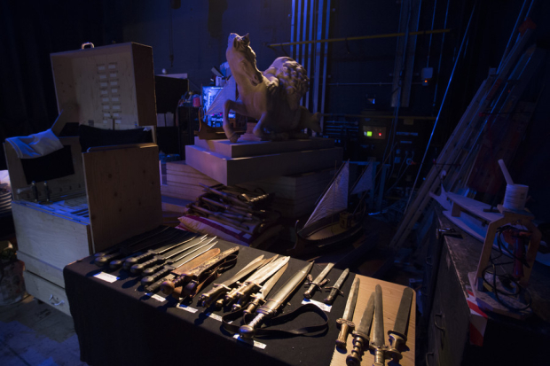 <p>Backstage of the Royal Shakespeare Theatre</p><br />© Andrew Fox
