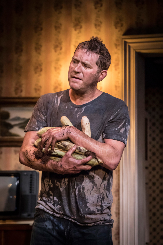 <p>Barnaby Kay  in <em>Buried Child</em></p><br />© Johan Persson