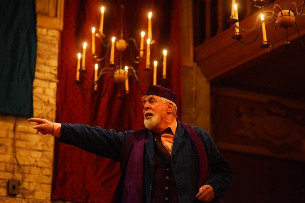 <p>Barrie Rutter as The Emperor in <em>The Captive Queen</em></p><br />©Nobby Clark