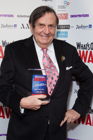 <p>Barry Humphries collects his Award for Best Solo Performance</p><br />© Dan Wooller for WhatsOnStage