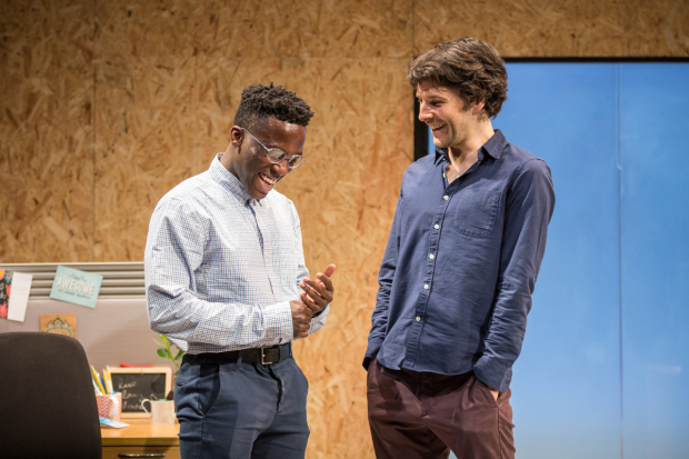 <p>Bayo Gbadamosi and Colin Morgan</p><br />© Marc Brenner