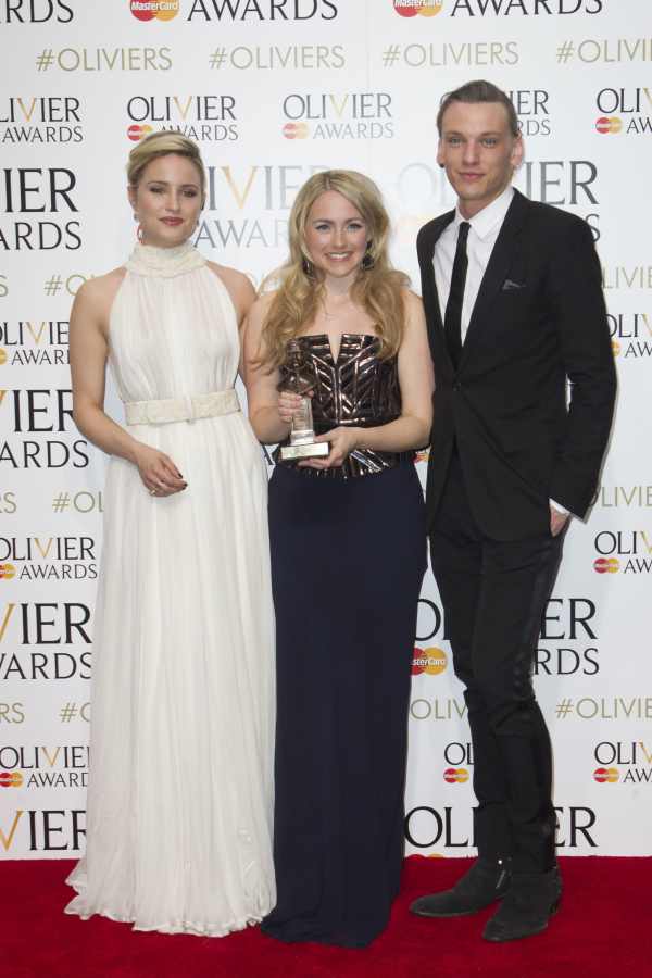 <p><em>Beautiful</em>&#39&#x3B;&#39&#x3B;s Lorna Want accepts her award from presenters Dianna Agron and Jamie Campbell Bower</p><br />© Dan Wooller