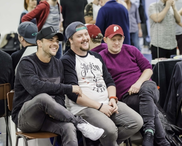 <p>Ben Adams (Writer), Chris Wilkins (Writer) and Michael Jibson (Creative Consultant)</p><br />@ Nick Dudley