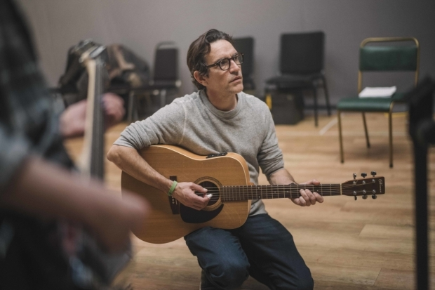<p>Ben Chaplin in rehearsals for <em>Mood Music</em></p><br />© Sarah Lee