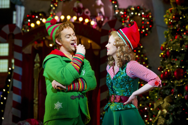 <p>Ben Forster (Buddy) and Kimberley Walsh (Jovie)</p><br />© Alastair Muir
