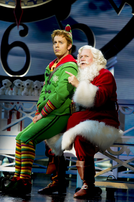 <p>Ben Forster (Buddy) and Mark McKerracher (Santa)</p><br />© Alastair Muir