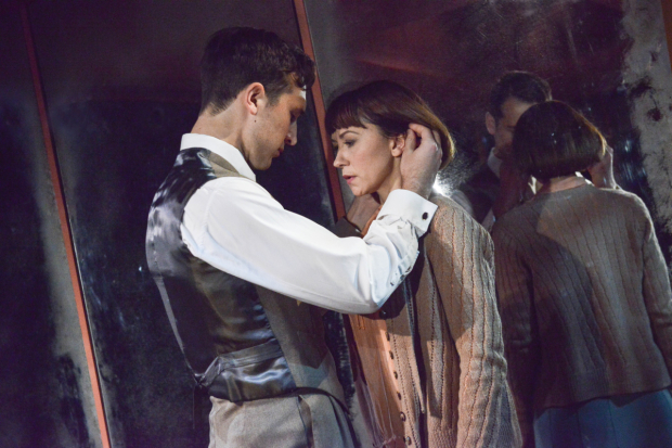 <p>Ben Lloyd-Hughes and Claire Lams in <em>Kiss Me</em></p><br />© Robert Day