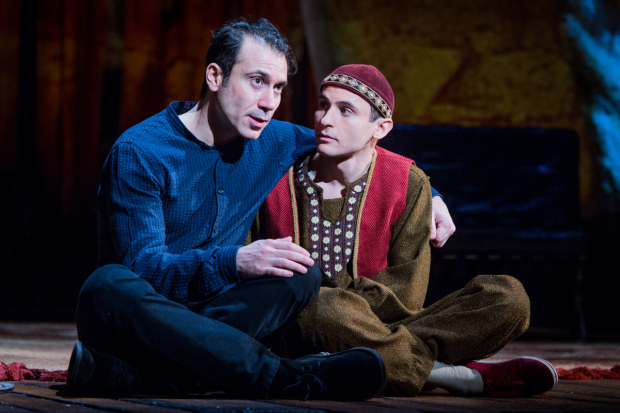 <p>Ben Turner and Andrei Costin in <em>The Kite Runner</em></p><br />© Robert Workman