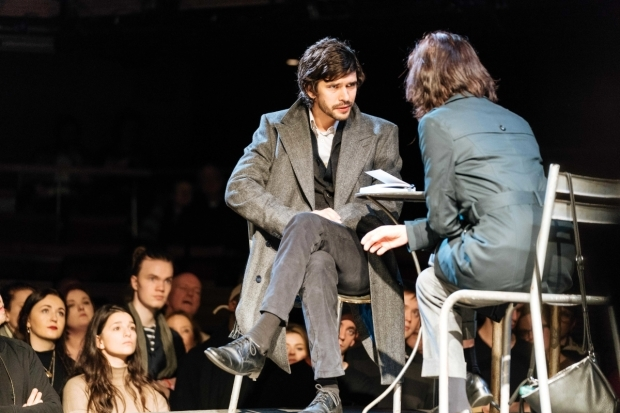 <p>Ben Whishaw (Brutus) and Michelle Fairley (Cassius)</p><br />© Manuel Harlan
