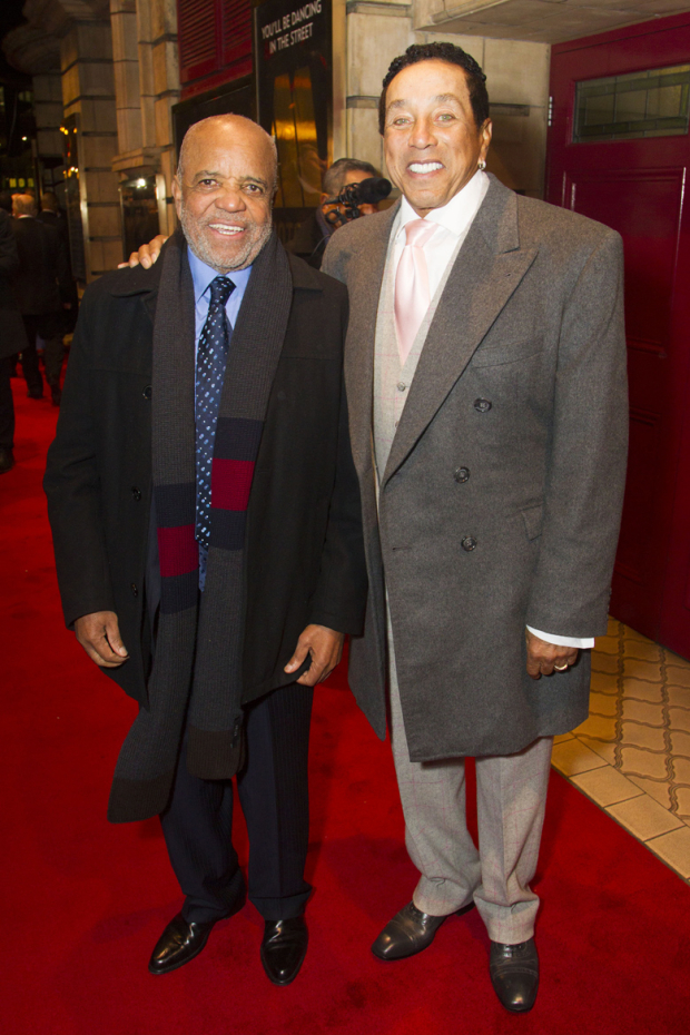 <p>Berry Gordy and Smokey Robinson</p><br />© Dan Wooller for WhatsOnStage