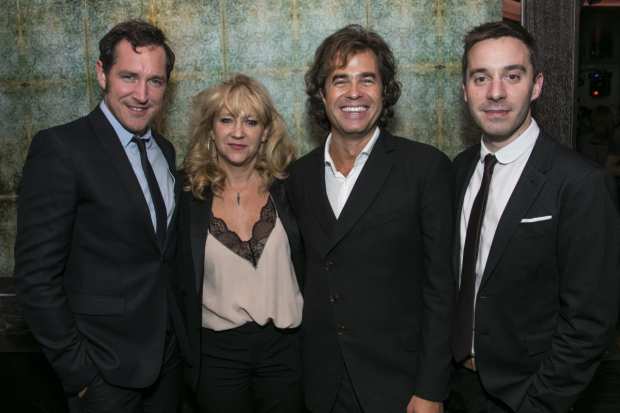 <p>Bertie Carvel (Rupert Murdoch), Sonia Friedman (producer), Rupert Goold (director) and James Graham (writer)</p><br />© All images are copyright Dan Wooller, 2017