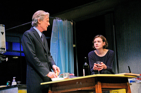 <p>Bill Nighy as Tom Sergeant and Carey Mulligan as Kyra Hollis</p><br />© John Haynes