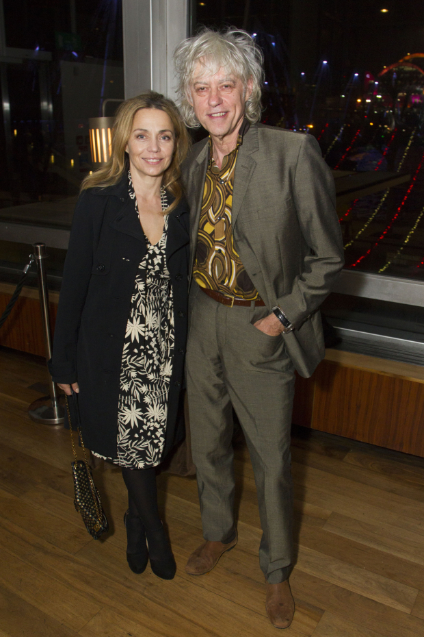 <p>Bob Geldof and Jeanne Marine</p><br />© Dan Wooller for WhatsOnStage