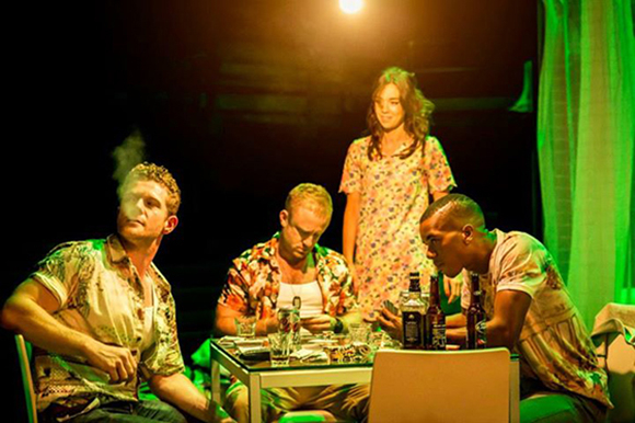 <p>Branwell Donaghey, Ben Foster, Vanessa Kirby &amp&#x3B; Troy Glasgow in <em>A Streetcar Named Desire</em> at the Young Vic</p><br />© Johan Persson