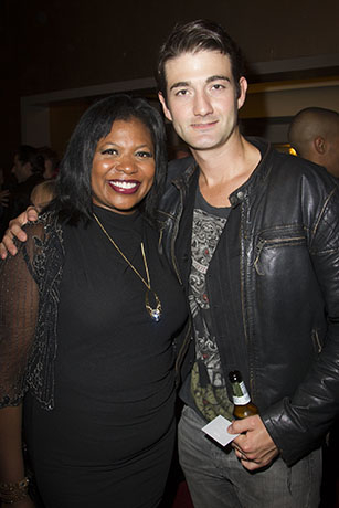 <p>Brenda Edwards and Oliver Tompsett</p><br />© Dan Wooller for WhatsOnStage