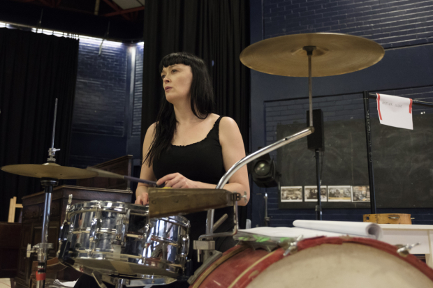 <p>Bronagh Gallagher in rehearsals for <em>Girl from the North Country</em></p><br />© Manuel Harlan