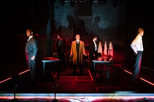 <p>Burt Caesar, Billy Postlethwaite, Joe Alessi, Sara Powell and Martin Turner in <em>The Plague</em> </p><br />© Alex Brenner