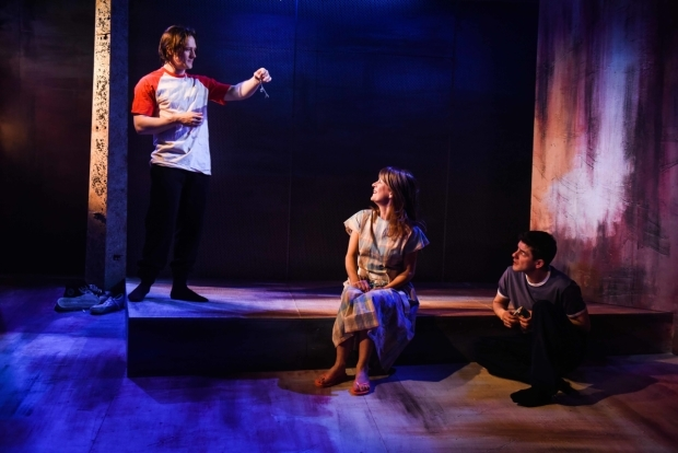 <p>Byran Dick (Emlyn), Miranda Foster (Hazel) and Mark Rice-Oxley (Paul) in <em>Years of Sunlight</em></p><br />© Savannah Photographic
