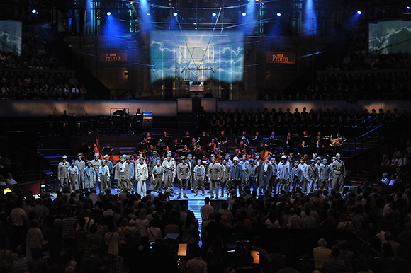 <p>Cambiata North West perform the world premiere of Adrian Sutton's &quot&#x3B;Some See Us&quot&#x3B; at the <em>War Horse</em> Prom, BBC Proms 2014</p><br />© BBC/Chris Christodoulou