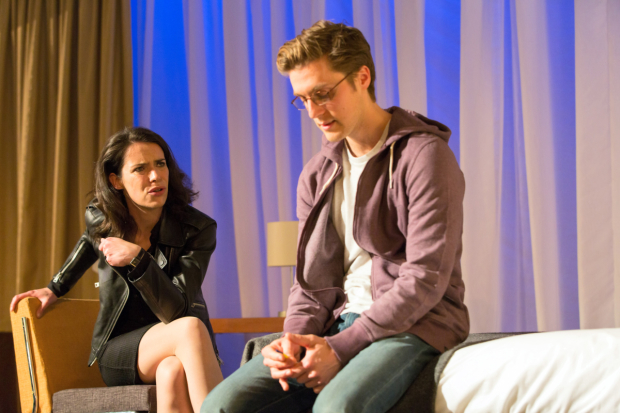 <p>Caoilfhionn Dunne (Woman) and Jack Farthing (Andrew)</p><br />© Stephen Cummiskey