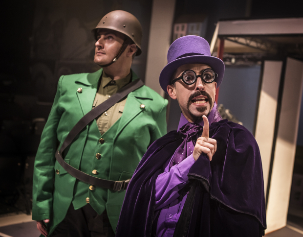 <p>Carl Mulaney (General Blight) and Marc Pickering (Dr Gloom)</p><br />© Pamela Raith