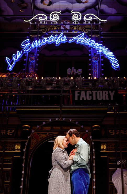 <p>Carly Bawden and Dominic Marsh in <em>Romantics Anonymous</em></p><br />© Steve Tanner