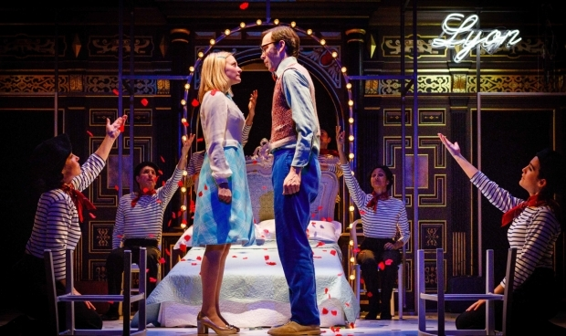 <p>Carly Bawden and Dominic Marsh in <em>Romantics Anonymous</em></p><br />© Steve Tanner 2017