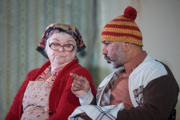 <p>Carol Macready (Marina) and Kriss Dosanjh (Telegin)  in <em>Uncle Vanya</em></p><br />© Jonathan Keenan