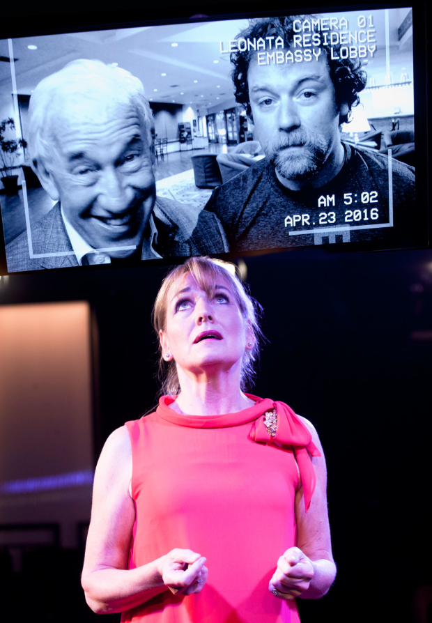 <p>Caroline Langrishe,  Simon Callow, Rufus Hound  in <em>Much Ado About Nothing</em> in <em>Much Ado About Nothing</em></p><br />© Simon Annand
