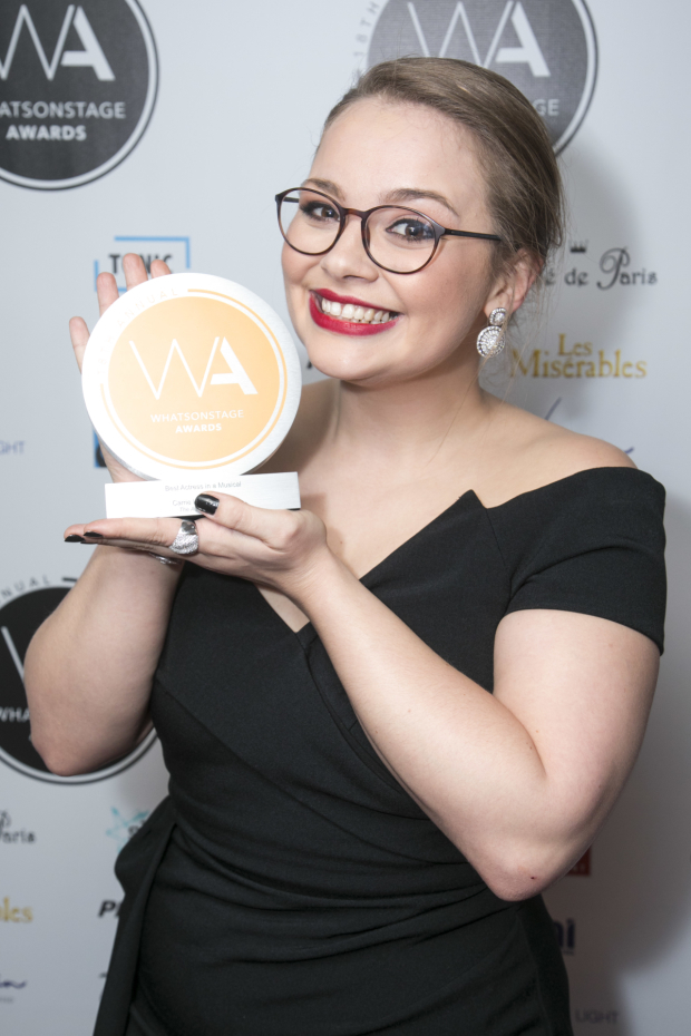 <p>Carrie Hope Fletcher, who won Best Actress in a Musical</p><br />© Dan Wooller for WhatsOnStage