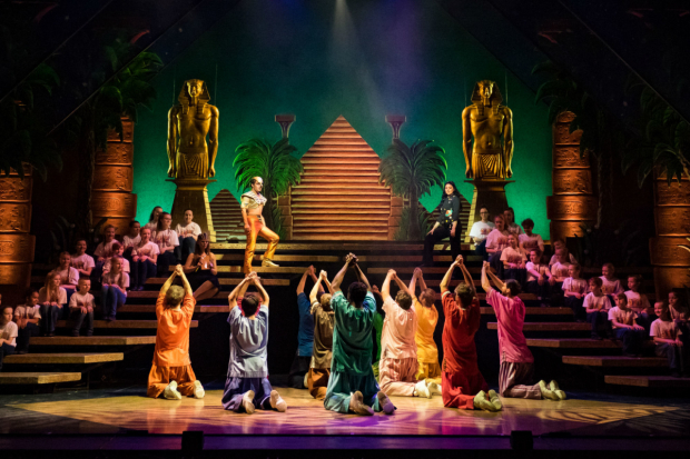 <p>Cast of <em>Joseph and the Amazing Technicolor Dreamcoat</em></p><br />© Mark Yeoman