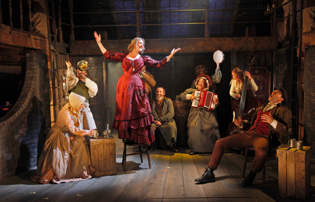 <p>Alice Fearn (Nancy), Cameron Blakely (Fagin) and cast</p><br />© Philip Tull