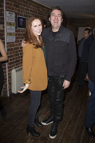 <p>Catherine Tate (Sara Jane Moore) and Jonathan Ross</p><br />© Dan Wooller for WhatsOnStage