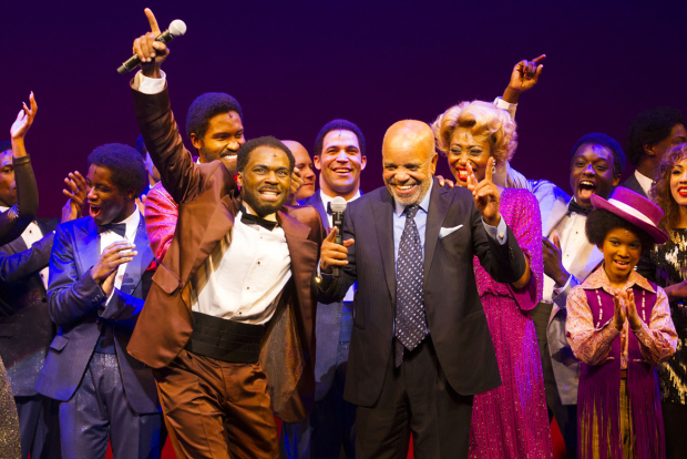 <p>Cedric Neal (Berry Gordy) and Berry Gordy </p><br />© Dan Wooller for WhatsOnStage