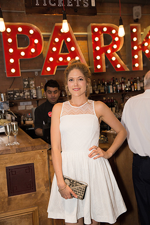 <p>Charity Wakefield looks wonderful in white</p><br />© Mark Douet