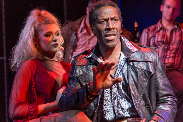 <p>Charlotte Reavey (April) and Cornell S John (Memphis) in <em>The Life</em></p><br />© Conrad Blakemore