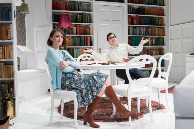<p>Charlotte Ritchie and Simon Bird in <em>The Philanthropist</em></p><br />© Manuel Harlan