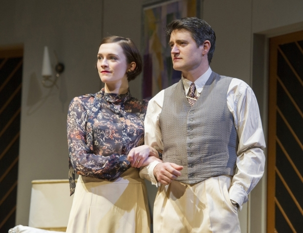 <p>Charlotte Ritchie (Sibyl Chase) &amp&#x3B; Tom Chambers (Elyot Chase) in  <em>Private Lives</em></p><br />©ALASTAIR MUIR