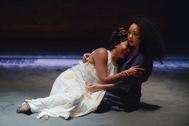 <p>Chipo Chung and Amber James in <em>Dido, Queen of Carthage</em></p><br />© Topher McGrillis