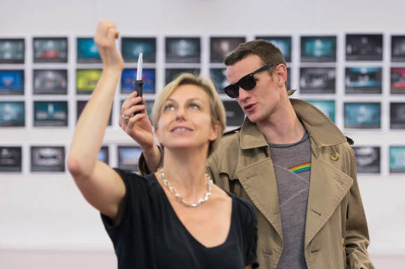 <p>Choreographer Lynne Page and Matt Smith (Patrick Bateman)</p><br />© Manuel Harlan
