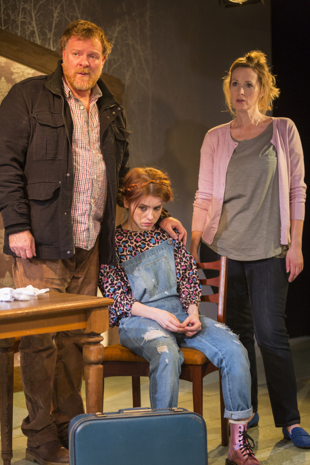 <p>Chris Larkin (Tom), Rosie Day (Izzy) and Natasha Little (Louise)</p><br />© Zue Lightfoot