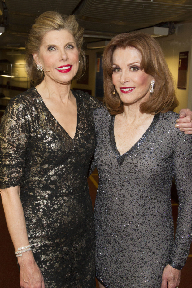 <p>Christine Baranski (Phyllis Stone) and Stefanie Powers (Solange Lafitte)</p><br />© Dan Wooller