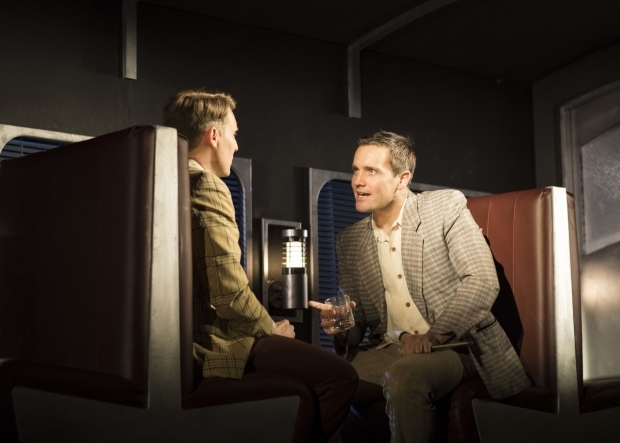 <p>Christopher Harper as Charles Bruno and Jack Ashton as Guy Haines</p><br />© Helen Maybanks