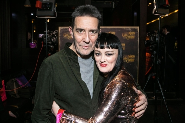 <p>Ciarán Hinds (Nick Laine) and Bronagh Gallagher (Mrs Burke)</p><br />© Dan Wooller for WhatsOnStage