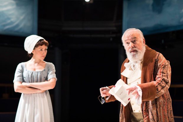 <p>Claire Lams and Pip Donaghy in <em>The Lottery of Love</em></p><br />© Helen Maybanks