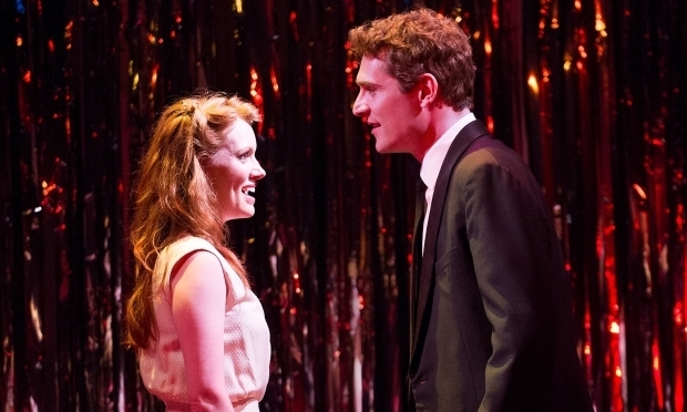 <p>Clare Foster and Mark Umbers in <em>Merrily We Roll Along</em></p><br />Tristram Kenton