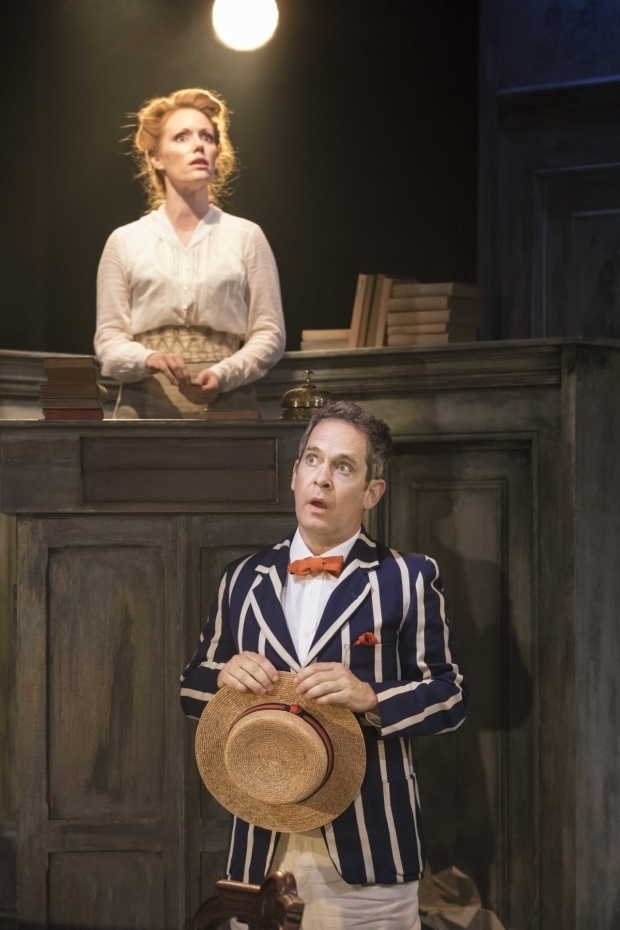 <p>Clare Foster and Tom Hollander in <em>Travesties</em></p><br />© Johan Persson