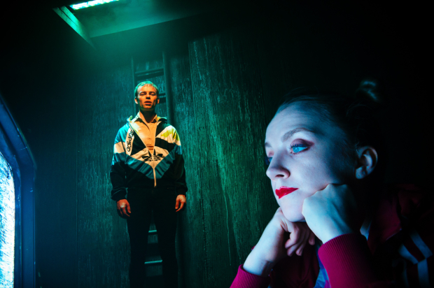 <p>Colin Campbell (Pig) and Evanna Lynch (Runt) in <em>Disco Pigs</em></p><br />© Alex Brenner